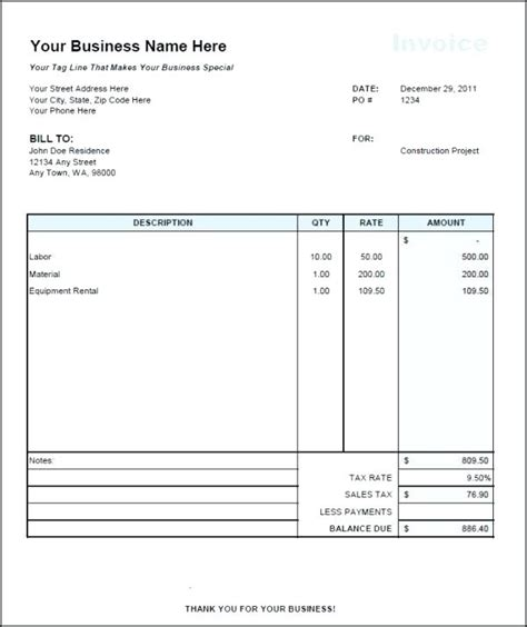 monthly rent invoice template rent receipt template ontario monthly rent invoice