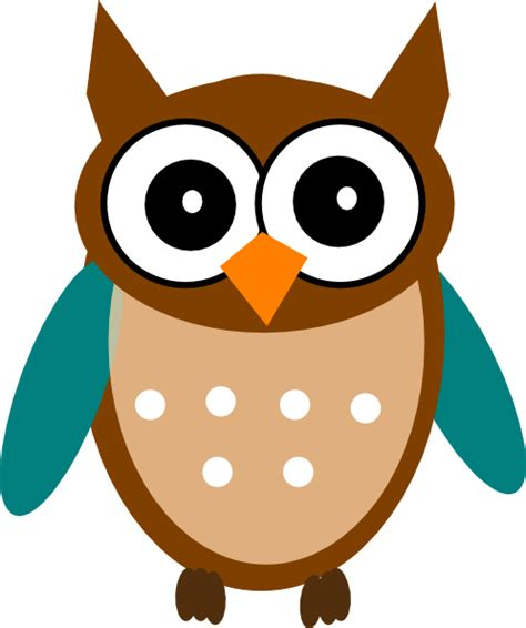 owl teal brown clip at clker vector clip royalty free domain