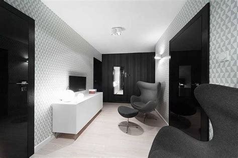 black and white home interior apartment interior design in black and white colors