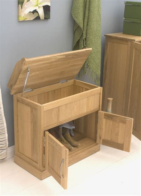 Oak Storage Bench Conran Solid Oak Furniture Hallway Shoe Storage Bench Cabinet Ebay