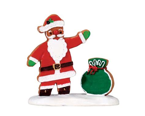lemax village collection gingerbread santa 72482