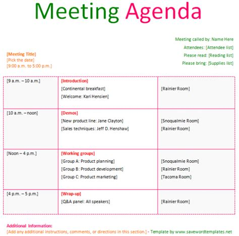 conference call meeting agenda template meeting agenda template save word templates