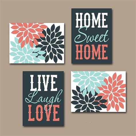 decals handmade artwork wall art canvas or prints live laugh love home sweet home