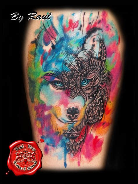 watercolor tattoo in london best 25 watercolor wolf ideas on