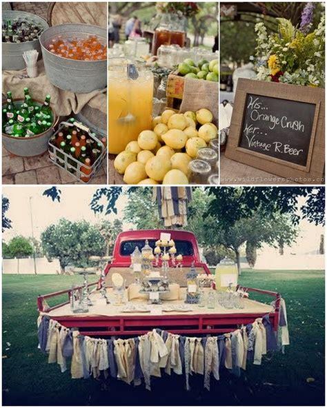 country style bridal shower decorations blue jar studio bright idea thursday signature drinks