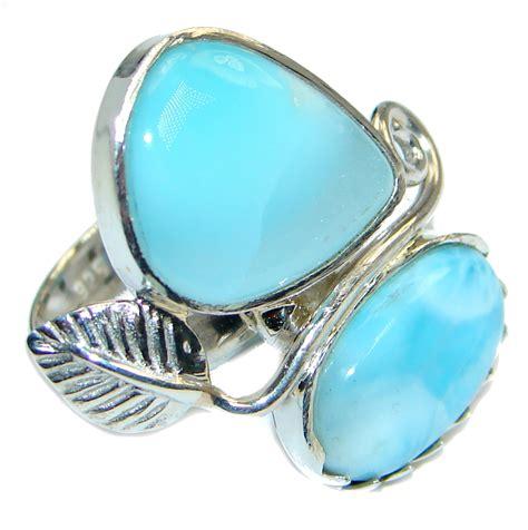 Silver Handmade Rings - genuine larimar sterling silver handmade ring size 8 1 4