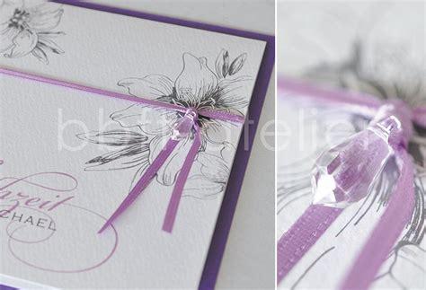 Hochzeitseinladungen Lila by Einladung Zur Hochzeit Bbft Atelier