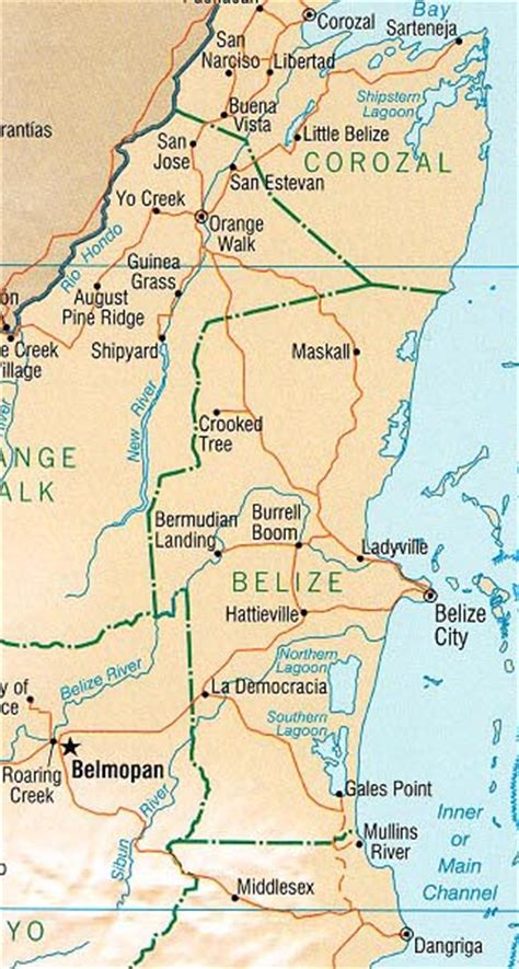 belize maps including outline  topographical maps