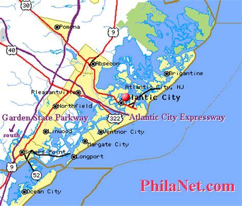 map of atlantic city nj maps from philadelphia to the new jersey shore beaches