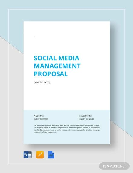 Social Media Proposal Template 18 Free Word Pdf Documents Download Free Premium Templates Social Media Management Template
