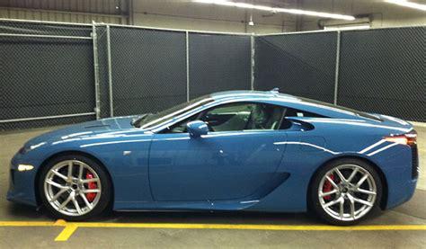lexus blue color slate blue lexus lfa profile