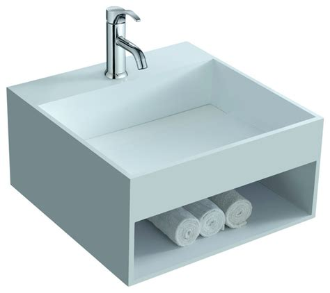 resin sinks bathrooms adm matte white wall hung stone resin sink contemporary