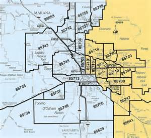 Tucson Arizona Zip Code Map by Zip Code Map Of Tucson Az Images