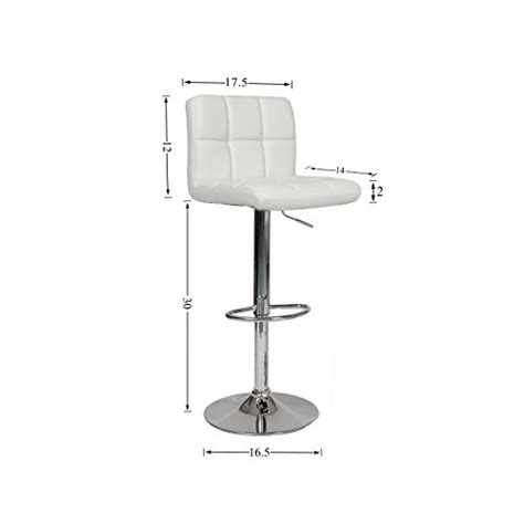 6 adjustable hydraulic barstool swivel bar stool white roundhill swivel pu leather adjustable hydraulic bar stool