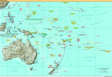 map of oceania oceania map size