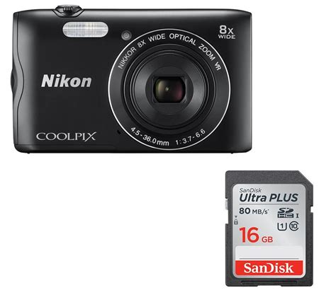 nikon memory card buy nikon coolpix a300 compact 16 gb memory card