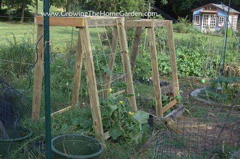 backyard trellis homemade cucumber or melon trellises