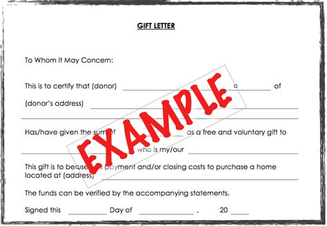 Gift Letter Refinance Accepting A Gift For The Payment On A Home Purchase Seattle Fha Jumbo Mortgage Bellevue