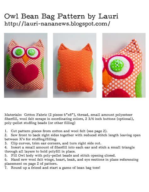 17 best ideas about bean bag patterns on pinterest diy