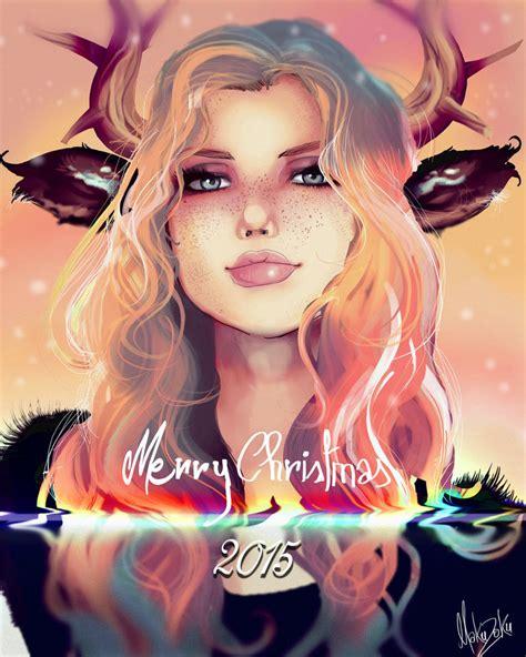 deer girl merry christmas   makuzoku  deviantart