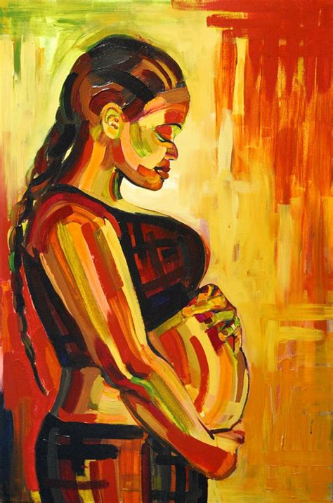 pregnancy painting large maternity birth by alishavernon
