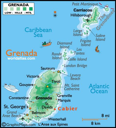 where is grenada on a map hamilton houses two bays grenada