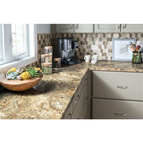 Brown Laminate Countertops by Shop Formica Brand Laminate 48 In X 96 In Lapidus Brown Radiance Laminate Kitchen Countertop