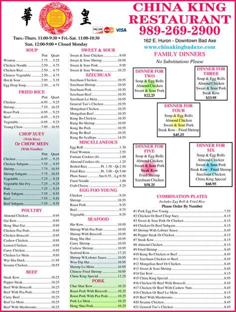 china king buffet menu china king bad axe mi 48413 1313 yellowbook