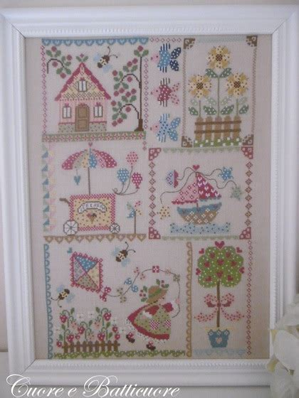 Quilt Cross Stitch by Summer In Quilt From Cuore E Batticuore Cross Stitch Charts Cross Stitch Charts Casa Cenina