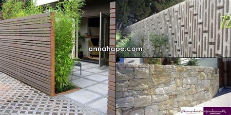 desain pagar rumah unik modern home