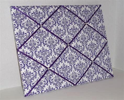 pattern for french memo board purple white damask print fabric french memo board