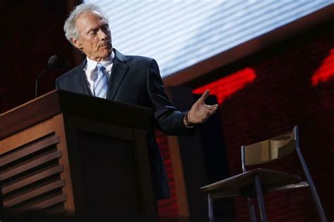Clint Eastwood Talking To Chair by Clint Eastwood Doesn T Care What You Think About His Empty