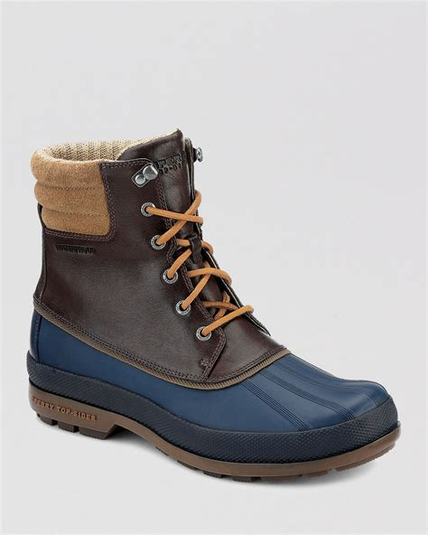 best waterproof boots sperry top sider cold bay waterproof boots in blue for