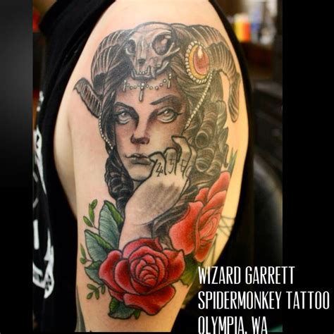 spidermonkey tattoo beautiful succubus by wizard garrett spidermonkey
