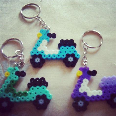 how to make a perler bead keychain scooter keychains perler bead perler bead ideas