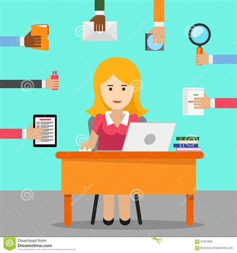 lavoro d ufficio segretaria donna occupata per il lavoro d ufficio