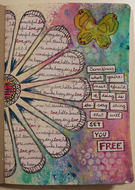 art journal layout ideas barb created this art journal page using the frosted