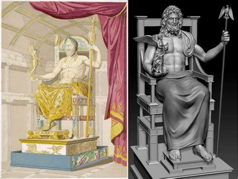 imagenes de la estatua del dios zeus la estatua de zeus