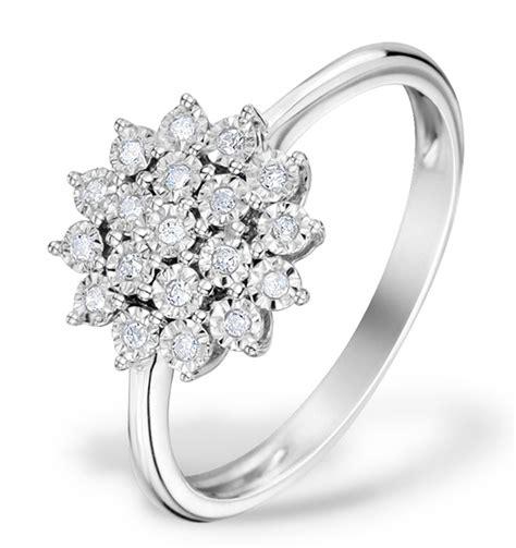 0 10ct 9k white gold cluster ring e5887 item e5887