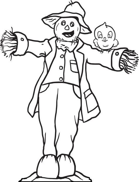 scarecrow coloring page free scarecrow coloring pages coloring home