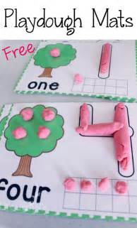 play dough mats for counting to 10