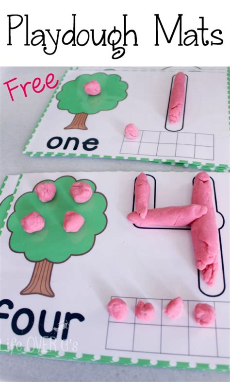 Play Doh Number Mats play dough mats for counting to 10