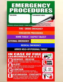 Emergency Procedures In The Workplace Template by Products Direct Warden And Extinguisher