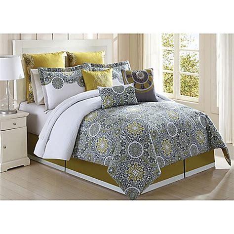 bed bath and beyond comforters on sale jezebel 9 piece comforter set in citron grey bed bath