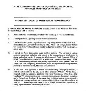 Witness Statement Template Family Court by Sle Witness Statement 8 Documents In Pdf Word