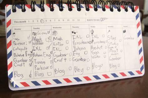 membuat jadwal kegiatan harian membuat jadwal homeschooling