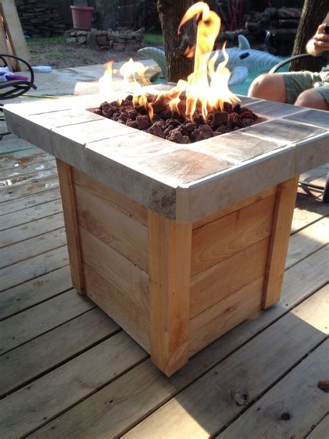 how to your own propane pit table amazing diy propane pit backyard decks