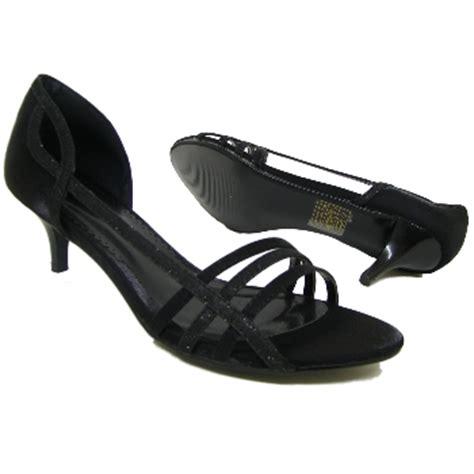 Sandal Heels Garsel E 404 black glitter kitten heel prom sandals shoes size 3 8 buy