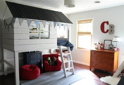kids clubhouse loft bed buildsomethingcom
