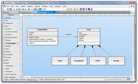 class diagram software free one element in diagrams software ideas modeler